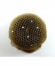 Bun Net Brown with Swarovski Crystals