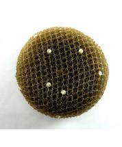 Bun Net Brown with Swarovski Pearls