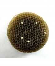 Bun Net Brown with Swarovski Pearls