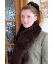 Scarf Faux Fur Brown