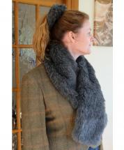 Scarf Faux Fur Beaver Grey