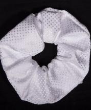 Scrunchie Vintage Devise White