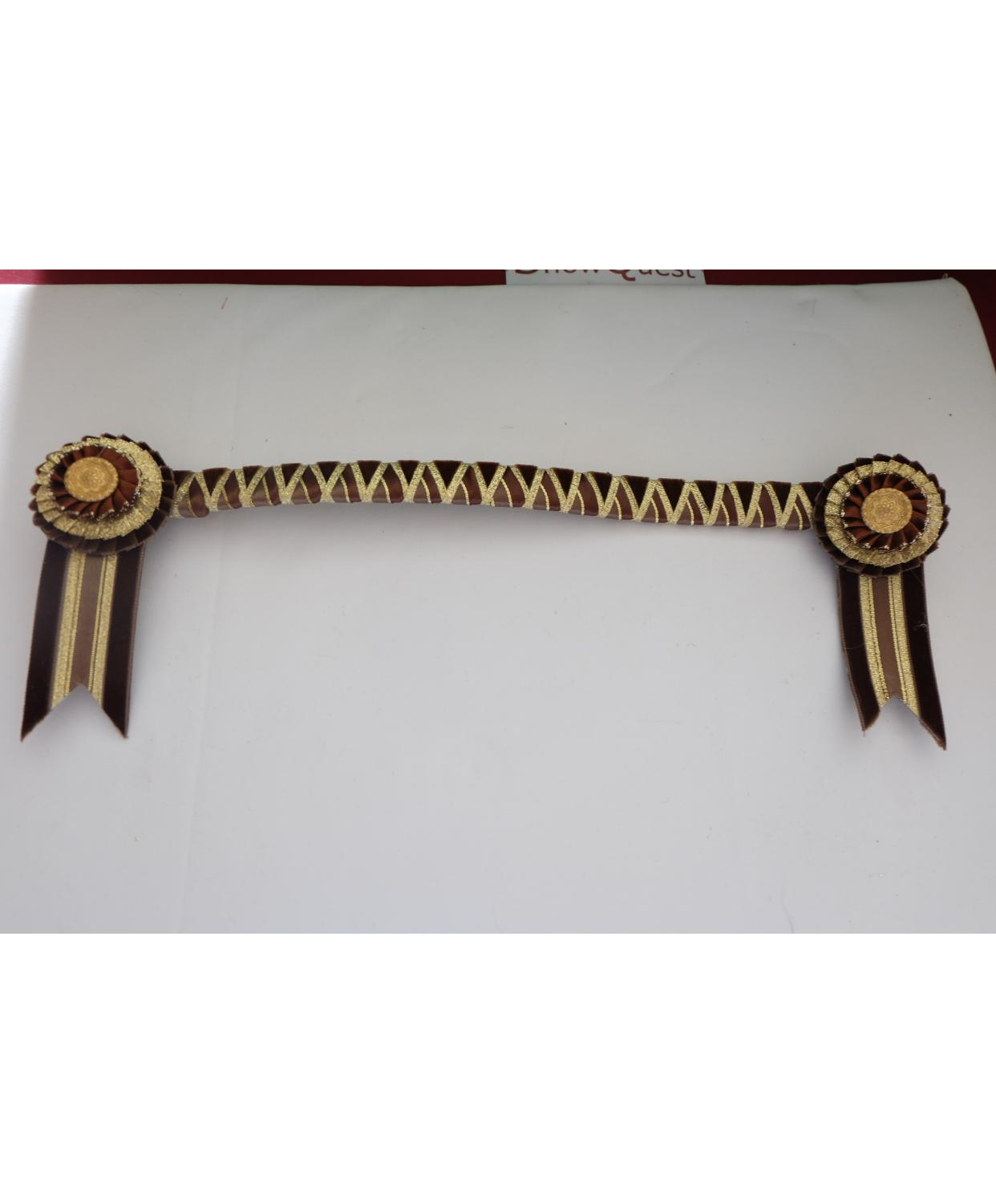 Browband Bespoke Brown Gold Full