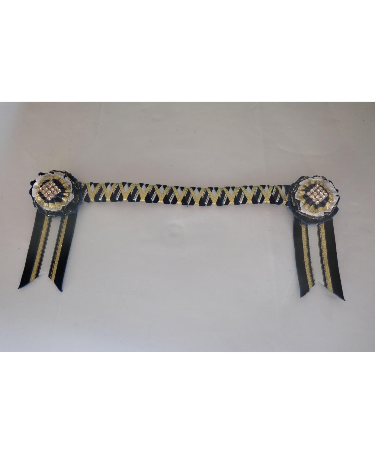 Bespoke Browband Navy Pony