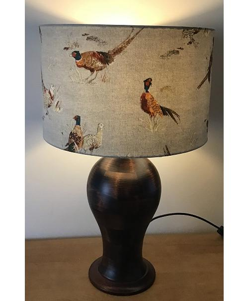 Lamp & Shade - Pheasants