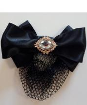 Hairbow with Bun net Regency Rose Gold